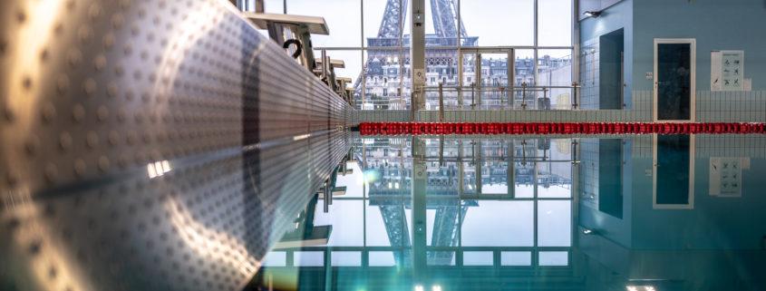 piscine vu sur la tour Eiffel